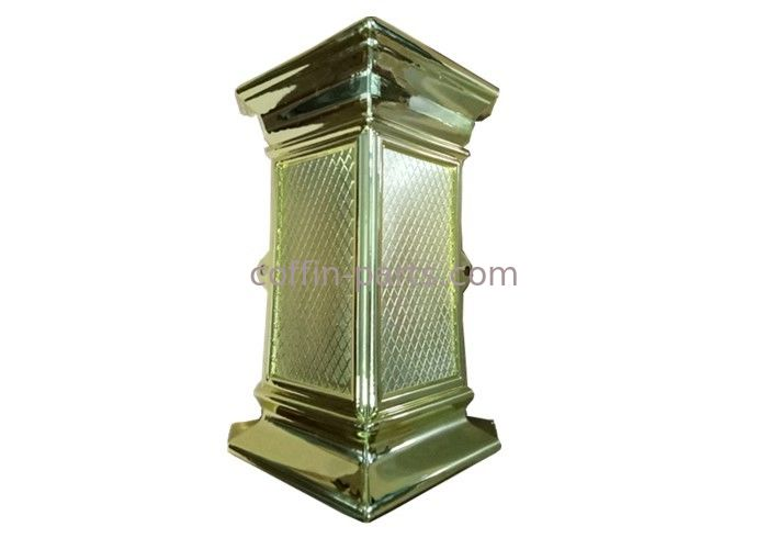 Gilded corner Customized quality plastic Coffin parts for ornamenting swing handle